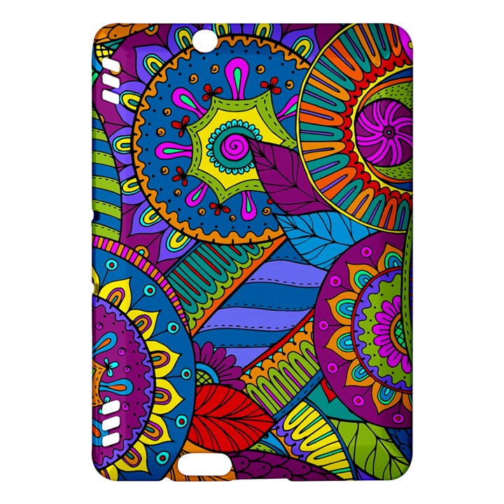 Pop Art Paisley Flowers Ornaments Multicolored Kindle Fire HDX Hardshell Case