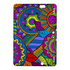 Pop Art Paisley Flowers Ornaments Multicolored Kindle Fire Hdx 8 9  Hardshell Case