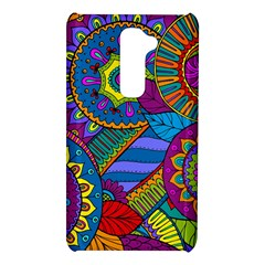 Pop Art Paisley Flowers Ornaments Multicolored LG G2