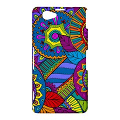 Pop Art Paisley Flowers Ornaments Multicolored Sony Xperia Z1 Compact