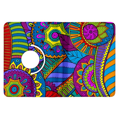 Pop Art Paisley Flowers Ornaments Multicolored Kindle Fire HDX Flip 360 Case