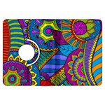 Pop Art Paisley Flowers Ornaments Multicolored Kindle Fire HDX Flip 360 Case Front
