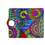 Pop Art Paisley Flowers Ornaments Multicolored Kindle Fire HDX 8.9  Flip 360 Case Front