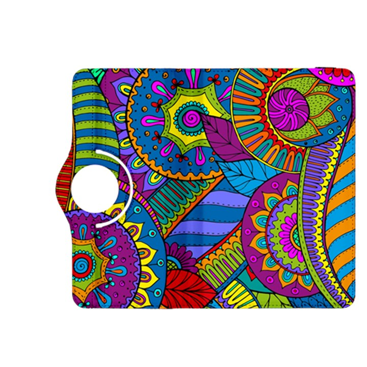 Pop Art Paisley Flowers Ornaments Multicolored Kindle Fire HDX 8.9  Flip 360 Case