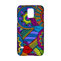 Pop Art Paisley Flowers Ornaments Multicolored Samsung Galaxy S5 Hardshell Case