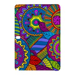 Pop Art Paisley Flowers Ornaments Multicolored Samsung Galaxy Tab Pro 10.1 Hardshell Case