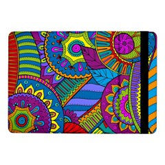 Pop Art Paisley Flowers Ornaments Multicolored Samsung Galaxy Tab Pro 10 1  Flip Case