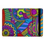 Pop Art Paisley Flowers Ornaments Multicolored Samsung Galaxy Tab Pro 10.1  Flip Case Front