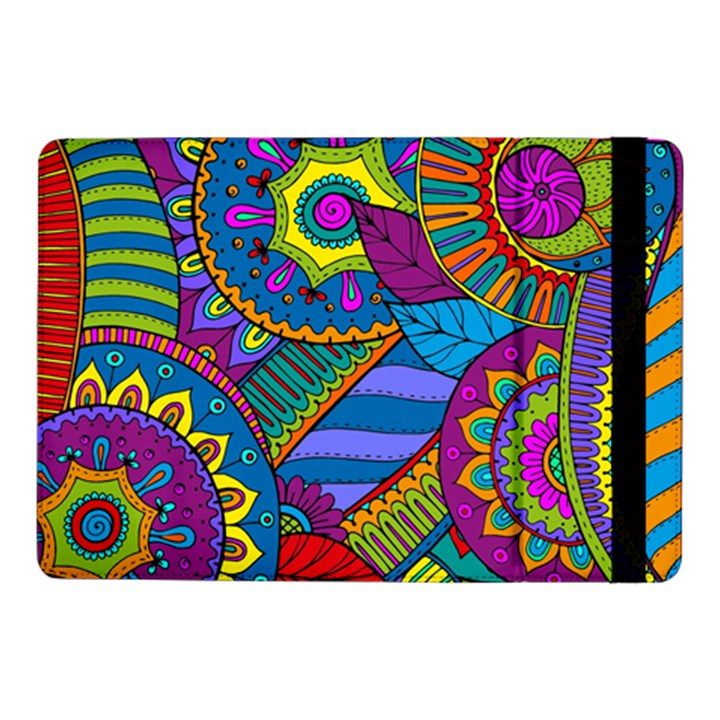 Pop Art Paisley Flowers Ornaments Multicolored Samsung Galaxy Tab Pro 10.1  Flip Case