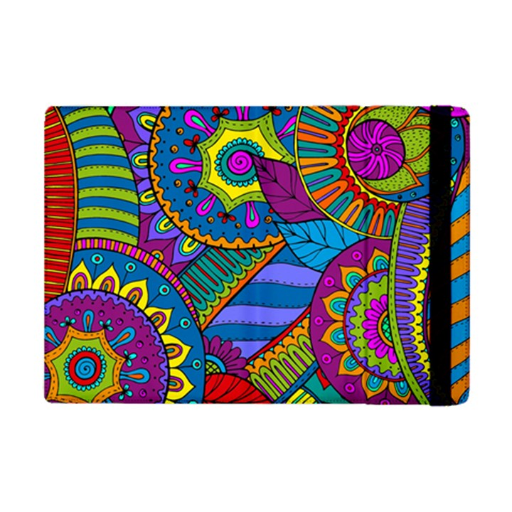 Pop Art Paisley Flowers Ornaments Multicolored iPad Mini 2 Flip Cases