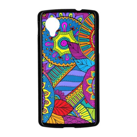 Pop Art Paisley Flowers Ornaments Multicolored Nexus 5 Case (Black)