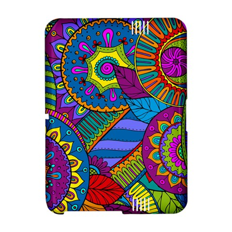 Pop Art Paisley Flowers Ornaments Multicolored Amazon Kindle Fire (2012) Hardshell Case