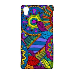 Pop Art Paisley Flowers Ornaments Multicolored Sony Xperia Z2