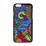Pop Art Paisley Flowers Ornaments Multicolored Apple iPhone 6/6S Black Enamel Case Front