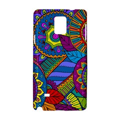 Pop Art Paisley Flowers Ornaments Multicolored Samsung Galaxy Note 4 Hardshell Case