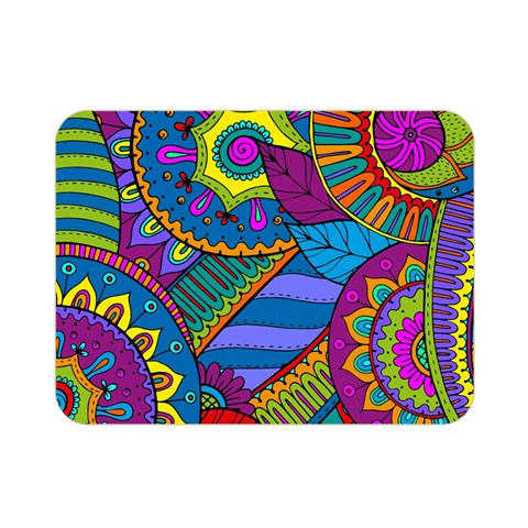 Pop Art Paisley Flowers Ornaments Multicolored Double Sided Flano Blanket (Mini)