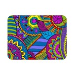 Pop Art Paisley Flowers Ornaments Multicolored Double Sided Flano Blanket (Mini)  35 x27 Blanket Back