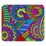 Pop Art Paisley Flowers Ornaments Multicolored Double Sided Flano Blanket (Small)  50 x40 Blanket Front