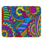 Pop Art Paisley Flowers Ornaments Multicolored Double Sided Flano Blanket (Large)   Blanket Back