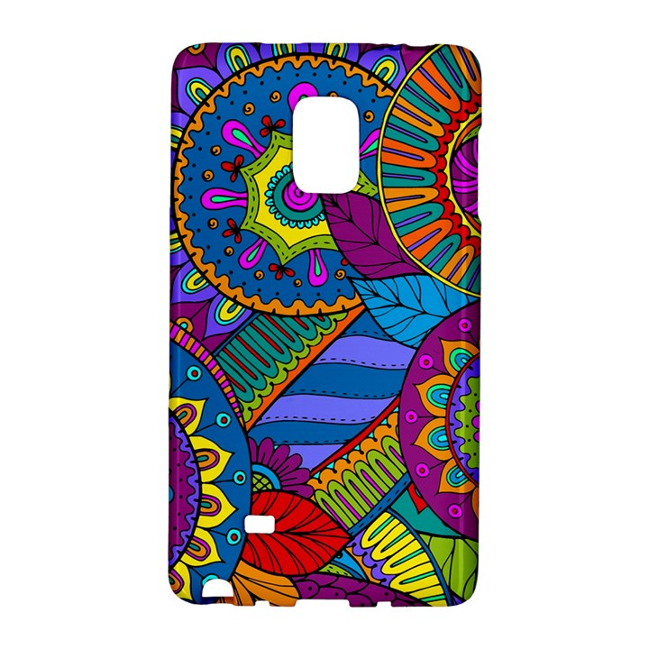 Pop Art Paisley Flowers Ornaments Multicolored Galaxy Note Edge