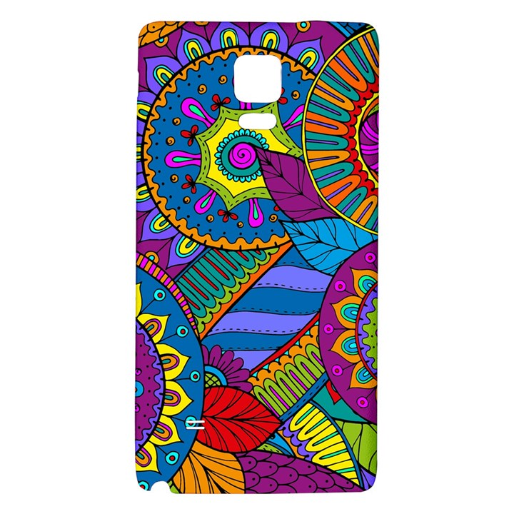 Pop Art Paisley Flowers Ornaments Multicolored Galaxy Note 4 Back Case
