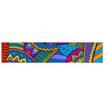 Pop Art Paisley Flowers Ornaments Multicolored Flano Scarf (Small) Back
