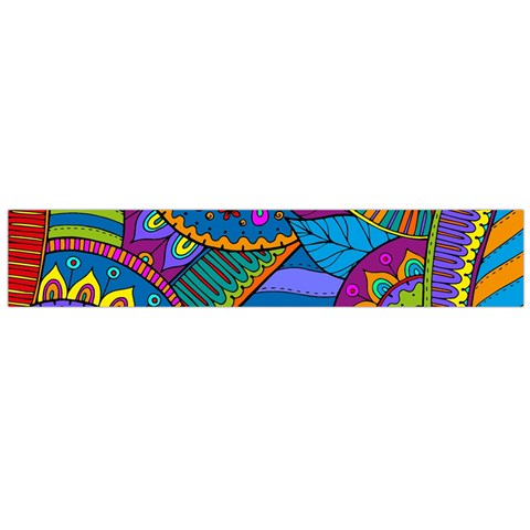 Pop Art Paisley Flowers Ornaments Multicolored Flano Scarf (Large)