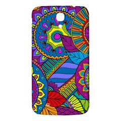 Pop Art Paisley Flowers Ornaments Multicolored Samsung Galaxy Mega I9200 Hardshell Back Case