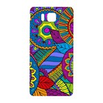 Pop Art Paisley Flowers Ornaments Multicolored Samsung Galaxy Alpha Hardshell Back Case Front