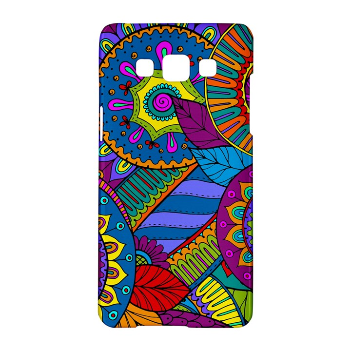 Pop Art Paisley Flowers Ornaments Multicolored Samsung Galaxy A5 Hardshell Case