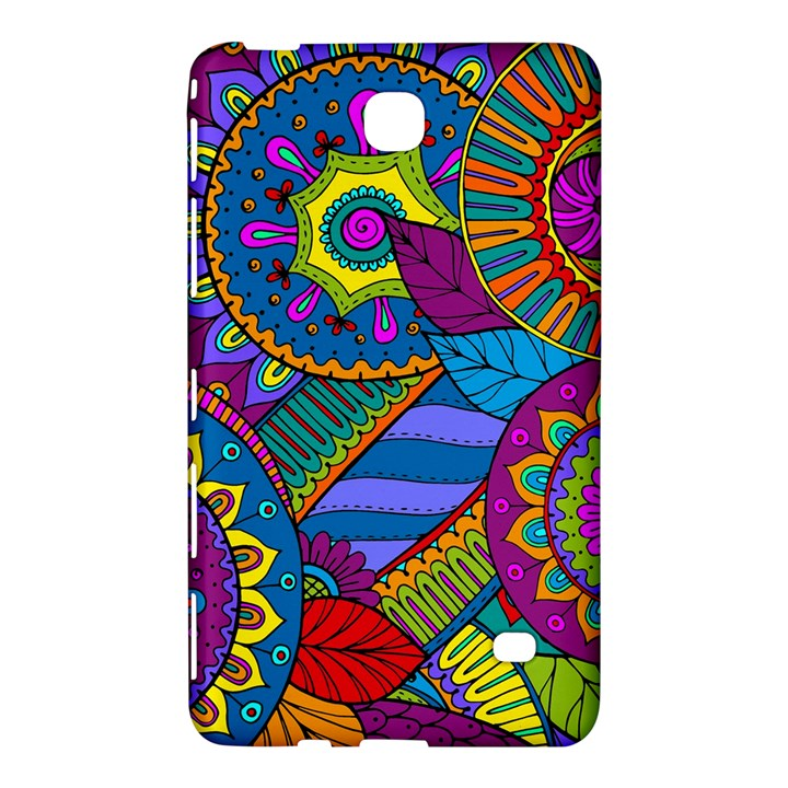 Pop Art Paisley Flowers Ornaments Multicolored Samsung Galaxy Tab 4 (8 ) Hardshell Case