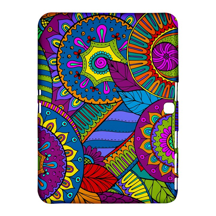 Pop Art Paisley Flowers Ornaments Multicolored Samsung Galaxy Tab 4 (10.1 ) Hardshell Case