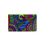 Pop Art Paisley Flowers Ornaments Multicolored Cosmetic Bag (XS) Front