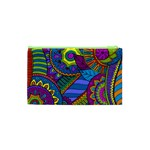 Pop Art Paisley Flowers Ornaments Multicolored Cosmetic Bag (XS) Back