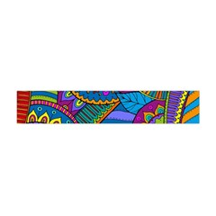 Pop Art Paisley Flowers Ornaments Multicolored Flano Scarf (mini)
