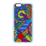 Pop Art Paisley Flowers Ornaments Multicolored Apple Seamless iPhone 6/6S Case (Color) Front