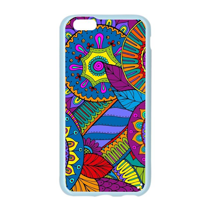 Pop Art Paisley Flowers Ornaments Multicolored Apple Seamless iPhone 6/6S Case (Color)