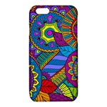 Pop Art Paisley Flowers Ornaments Multicolored iPhone 6/6S TPU Case Front