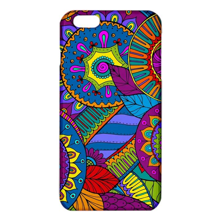 Pop Art Paisley Flowers Ornaments Multicolored iPhone 6 Plus/6S Plus TPU Case