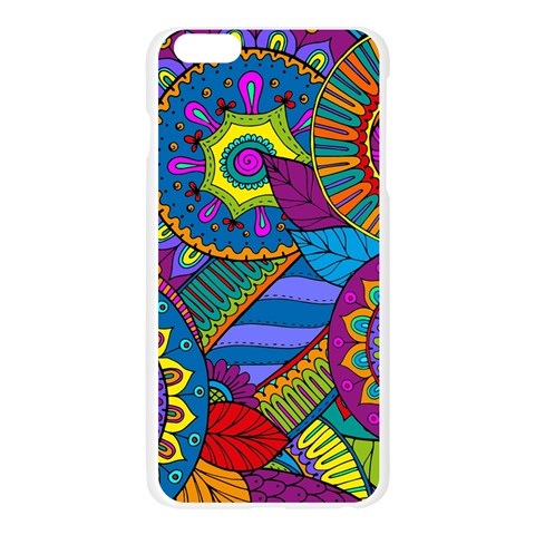 Pop Art Paisley Flowers Ornaments Multicolored Apple Seamless iPhone 6 Plus/6S Plus Case (Transparent)