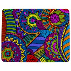 Pop Art Paisley Flowers Ornaments Multicolored Jigsaw Puzzle Photo Stand (rectangular)