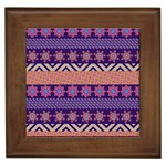 Colorful Winter Pattern Framed Tiles Front