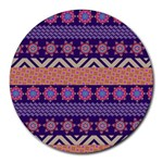 Colorful Winter Pattern Round Mousepads Front