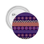 Colorful Winter Pattern 2.25  Buttons Front