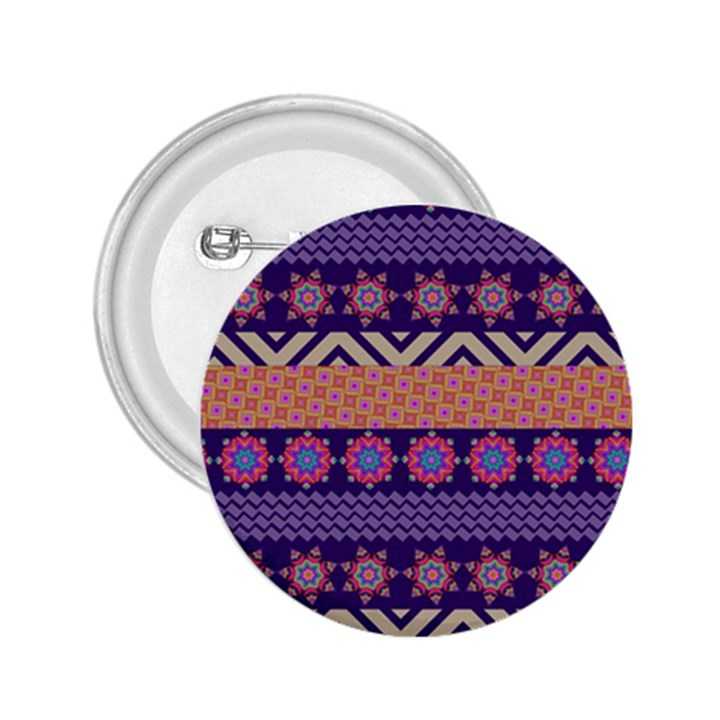 Colorful Winter Pattern 2.25  Buttons