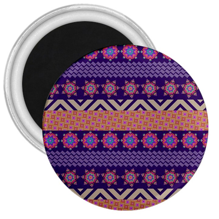 Colorful Winter Pattern 3  Magnets