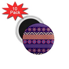 Colorful Winter Pattern 1 75  Magnets (10 Pack)