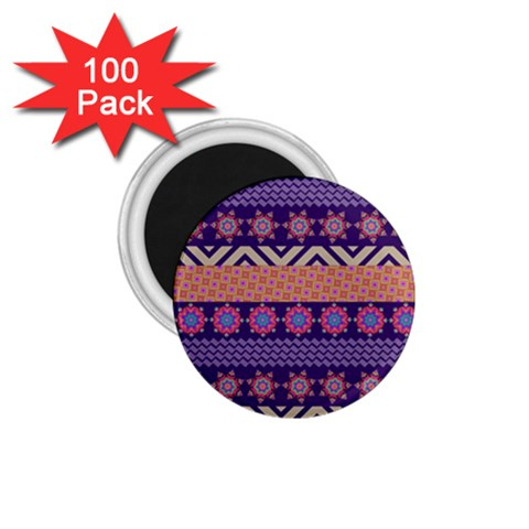 Colorful Winter Pattern 1.75  Magnets (100 pack)