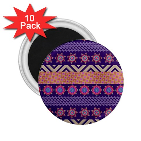 Colorful Winter Pattern 2.25  Magnets (10 pack)