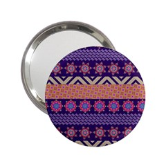 Colorful Winter Pattern 2 25  Handbag Mirrors